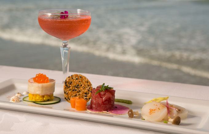 Lounge And Hy Hour At Marine Room Restaurant In La Jolla