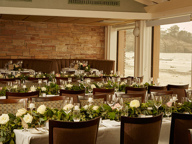 Celebrate your weddings at Southend of The Marine Room, La Jolla
