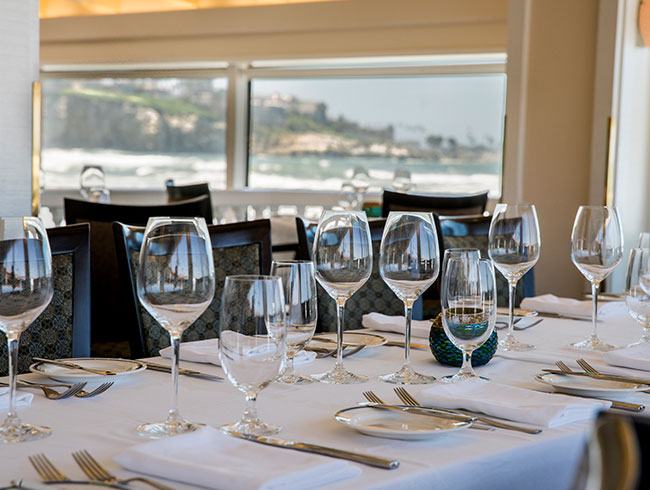 Celebrate your weddings at Terrace of The Marine Room, La Jolla